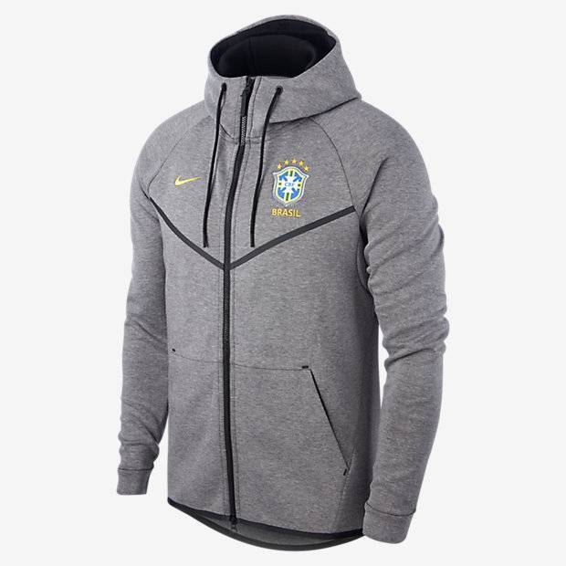 90570ad1 Мужская куртка Brasil CBF Tech Fleece Windrunner Nike (Серый ...